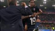 Tino Costa realizza un goal su punizione ma c'è la deviazione