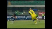 Tiribocchi segna il goal vittoria per il Chievo che condanna il Milan