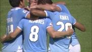 Tiro da fuori area di Hernanes che vale il raddoppio per la Lazio