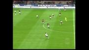 Tiro deviato: traversa di Rui Costa in Milan-Reggina