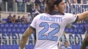 Tiro potente ma troppo centrale per Paloschi contro la Lazio