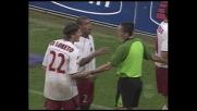Tomasson penetra in area, Blasi lo tocca: rigore per il Milan