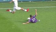 Tomovic ferma con coraggio l'azione del Cagliari