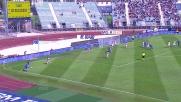 Tonelli va in cielo e segna di testa contro il Palermo
