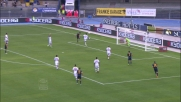 Toni di testa è implacabile e realizza il goal della doppietta al Milan