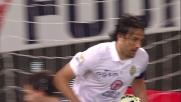 Toni in area non perdona e realizza il goal del pareggio contro la Sampdoria