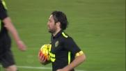 Toni realizza il goal che riapre la sfida tra Lazio e Verona