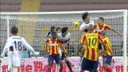 Toni svetta sopra tutti e segna il goal che pareggia i conti al Via Del Mare contro il Lecce