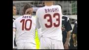 Totti firma il goal dell'1-1 della Roma a Cagliari