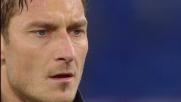 Totti, goal su rigore contro il Cagliari