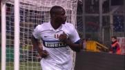 Mario Balotelli realizza il goal del raddoppio dell'Inter a Genova