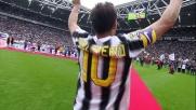 Tutti in piedi allo Stadium per Del Piero: il capitano saluta la Juventus