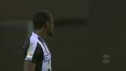 Incornata di Zapata contro la Fiorentina, palla fuori
