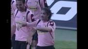 Tedesco anticipa Marchetti e realizza il goal del 3-1 del Palermo sul Cagliari