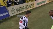 Di Natale segna con il sinistro il goal del vantaggio sul Milan