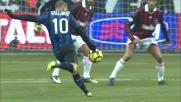 Sneijder con un destro beffardo sorprende Dida ma colpisce il palo nel derby di Milano