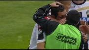 Goal dell'Udinese con Lodi che ringrazia Sanchez per l'assist