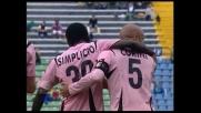 Super goal di Corini da centrocampo su punizione, il Palermo vince a Udine