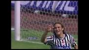 Udinese in goal con Floro Flores dopo il palo di Felipe