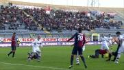 Un rigore al Sant'Elia contro il Bologna causato da una trattenuta di Cherubin a Conti