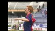 Biondini segna contro il Messina per il vantaggio del Cagliari