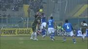 Kozak segna il goal del raddoppio laziale al Rigamonti