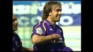 Un errore di Favalli favorisce il goal di Batistuta contro la Lazio