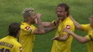 Un gran colpo di testa di Natali porta avanti la Fiorentina a Genova