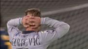 Un tuffo spettacolare di Rafael devia il tiro di Radovanovic