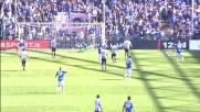 Una sfortunata deviazione di Armero porta in vantaggio la Sampdoria sul tiro-cross di Muriel