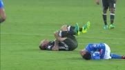 Uno scontro tra Kucka e Callejon mette al tappeto entrambi i giocatori