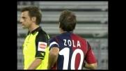 La punizione di Zola non sorprende Frey che evita un goal che sarebbe stato sicuramente spettacolare