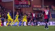 Perotti ci prova con un tiro a giro: fuori di un soffio contro il Chievo