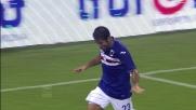 Eder segna la prima rete della Sampdoria spiazzando Brkic  su calcio di rigore