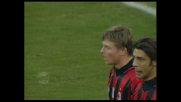 Tomasson, tocco in rete per il 5-2 sul Lecce