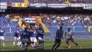 Zapata di testa impegna severamente Viviano in Sampdoria-Udinese