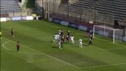 Pinilla segna il goal del raddoppio al Sant'Elia