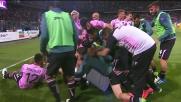 Vazquez porta in vantaggio il Palermo: il Barbera esplode di gioia contro il Verona