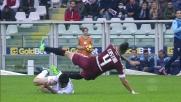 Parolo travolge in tackle Castan: giusta ammonizione per il centrocampista della Lazio