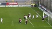 Conclusione di Cossu direttamente da calcio d'angolo in Cagliari-Genoa