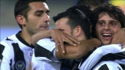 Dopo la traversa Di Natale ribadisce in goal contro il Napoli