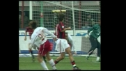 Fusani prova l'eurogoal contro il Milan a San Siro