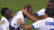 Vieira piega le mani a Marco Amelia e l'Inter a Genova fa poker