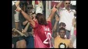 Vigiani segna il goal del pareggio del Livorno contro l'Atalanta