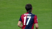 Viviano salva la porta del Bologna sul tiro di Rudolf