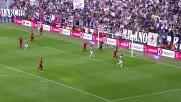 Vucinic segna il goal che regala il pareggio alla Juventus