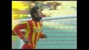Vucinic segna il goal del vantaggio del Lecce a Udine