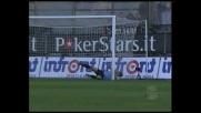 D'Agostino centra il palo con la sua punizione contro il Cagliari