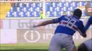 Gastaldello sale in cielo e con un colpo di testa imperioso segna il goal vittoria sul Cagliari