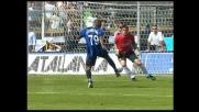 Balzo di Pagliuca per negare il goal a Ferreira Pinto